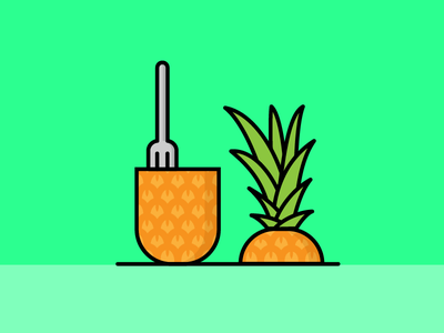 Pineapple salva vector illustrator illustration green orange fruit ananas pineapple