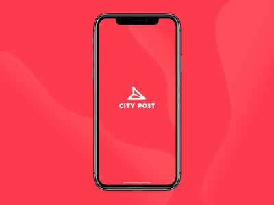 City post #1 salva travel ux ui iphonex red graphism designer design app