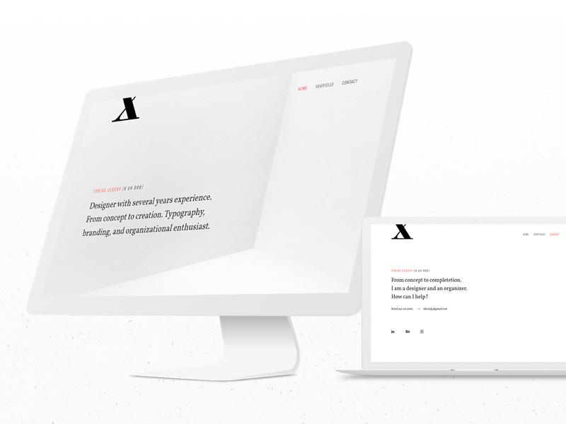 Portfolio website web ux ui portfolio landing