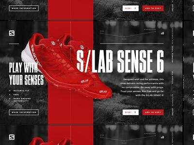 Salomon Product Page shoes salomon typography ux ui splash page website product page landing page