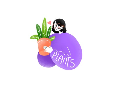 Plant Mom plant graphic branding illustration branding web illustration vector art vector minimal illustration minimal clean 2d flat illustration flat art flat face character design