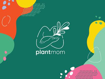 Plant Mom Logo V1 plants graphic design marketing logo graphic branding illustration branding web illustration vector art vector minimal illustration minimal clean 2d flat illustration flat art flat