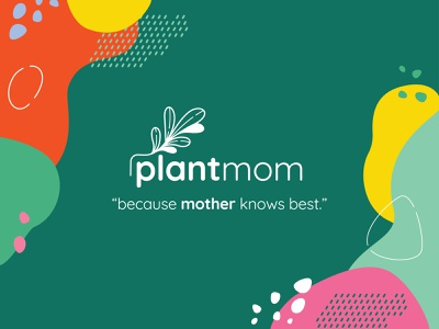 Plant Mom Logo V2 plant logo marketing graphic branding illustration branding web illustration vector art vector minimal illustration minimal clean 2d flat illustration flat art flat