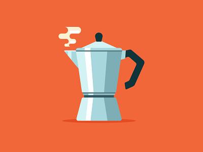 Moka Pot coffee icons vector art design graphic flat vector illustration