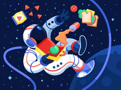 Astronaut Lunch Box