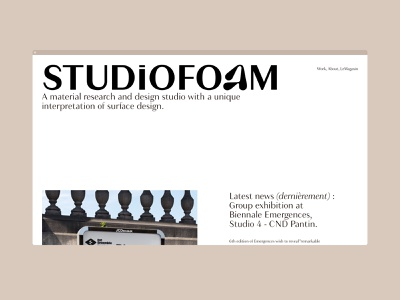 HP STUDiOFOAM - Design studio typography website ux logo product design