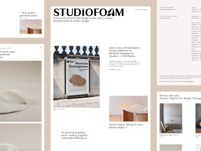 Overview STUDiOFOAM - Design Studio branding logo website design