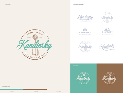 Logo Kandisky - ice cream factory