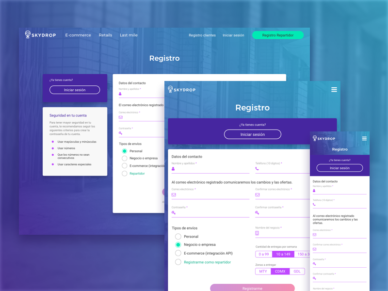 Web Responsive Registration ui design registration responsive web design