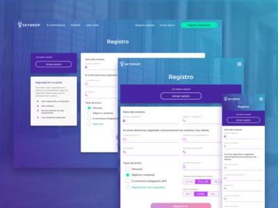 Web Responsive Registration