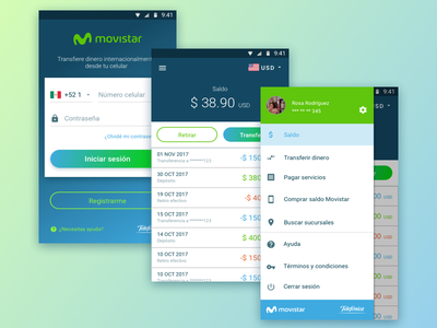 Transfer App UI Design money transfer app design ui design