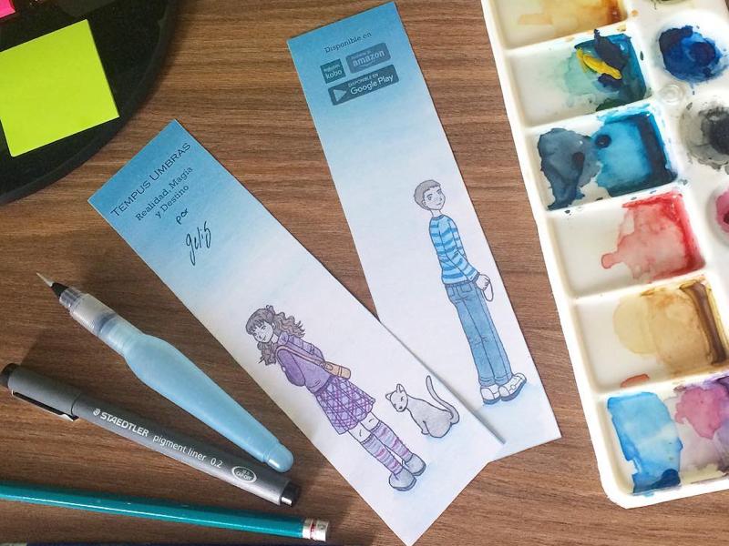Book Marker watercolor book marker branding ink drawing watercolor