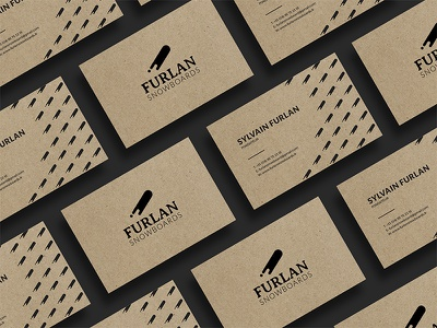 Furlan Snowboards carte de visite cards card business identity branding snowboards furlan
