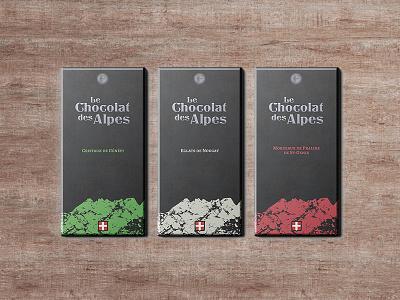 Le Chocolat des Alpes alpes chocolat savoie design packaging logo identity branding