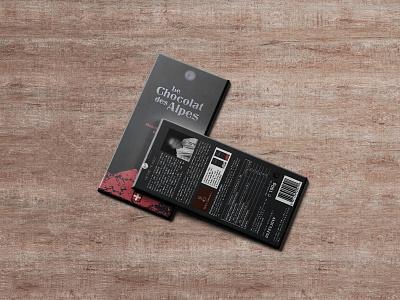 Le Chocolat des Alpes alpes chocolat illustration logo design typography packaging identity branding