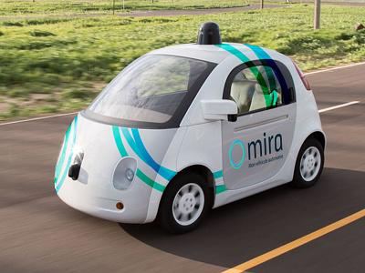 Mira - Mon véhicule autonome covering lyon voiture autonome logo design identity branding