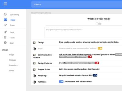 Wave wave ninjaas design blue mail gmail