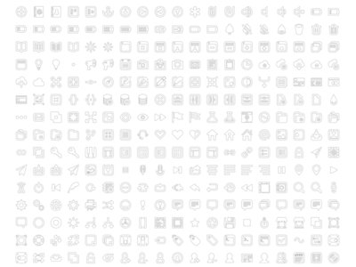 Bordered Batch Icons