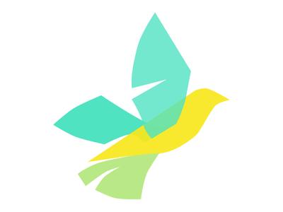 Peace to Ukraine amazing color teal bird logo peace