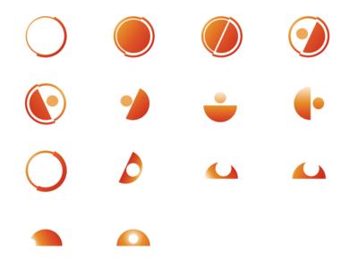 Logo Variations minimalist orange logo