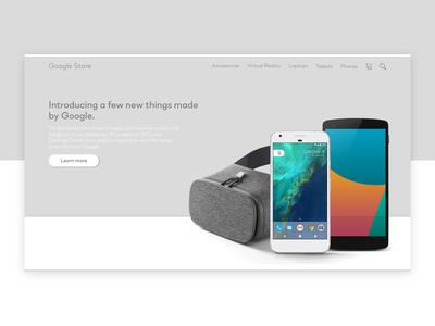 Clean Google landing page design