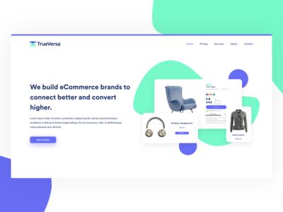 eCommerce Landing page design