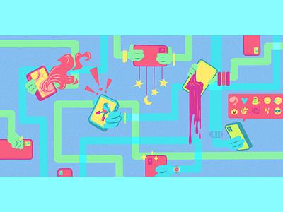 Social Media Banner for BTM illustrator vector branding design drawing fun cute digital adobe illustration