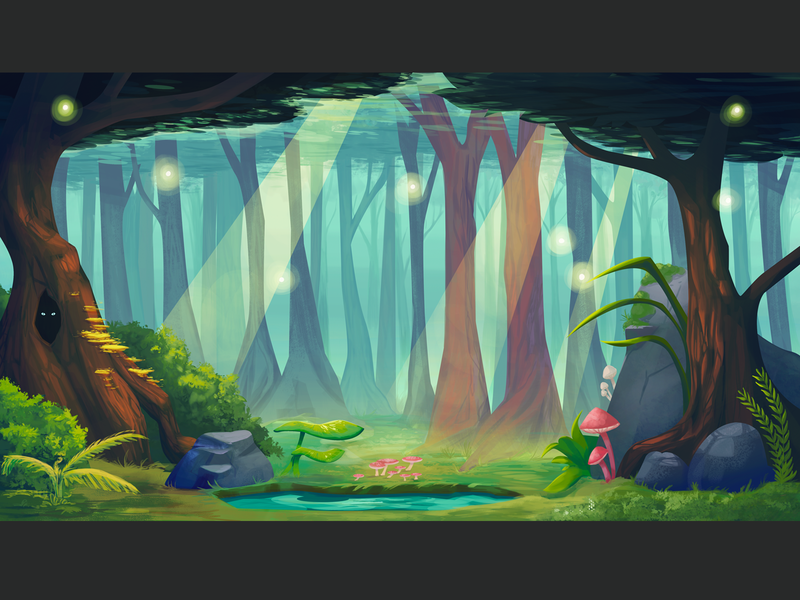 ZBG Enchatedforest dribbble painting design drawing digital painting digital adobe photoshop illustration