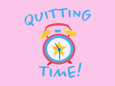 Quitting Time work from home animation design sticker design drawing stickerdesign fun sticker cute adobe digital illustration