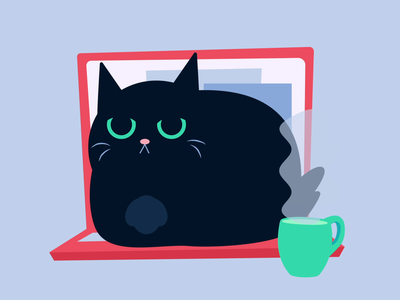 AFK work from home stickerdesign sticker design sticker digital character drawing cute adobe animation illustration