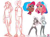 BBxBFF, Early concept sketches