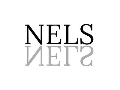 Nelsslen mirror reverse logo