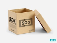 Free Open Box PSD Packaging Mockup