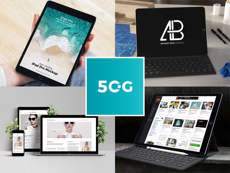 50 Free iPad Psd Mockups For Designers By 50 Graphics