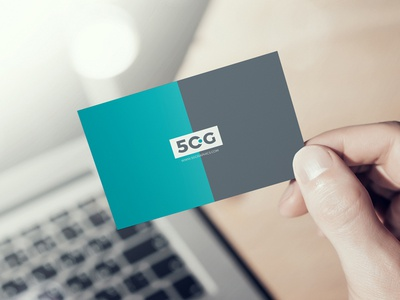 Free Man Showing Business Card in Hand Mockup