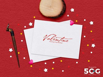 Free Valentine Greeting Card Mockup 2018