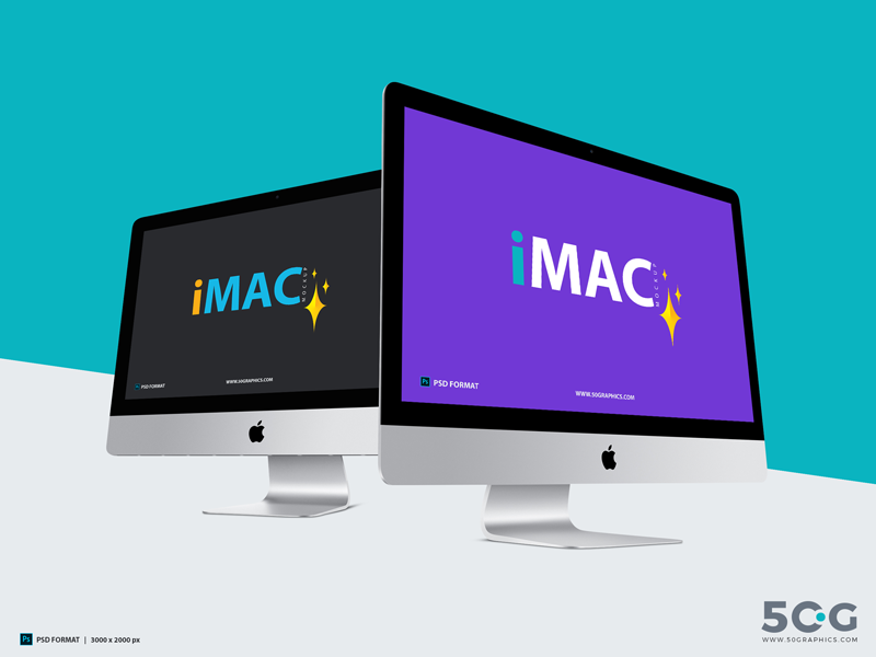 Free iMac Mockup With Two Different Perspective 2018 freebies mockup template free psd mockup freebie free mockup mockup free psd mockup mockup mac mockup imac mockup