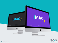 Free iMac Mockup With Two Different Perspective 2018