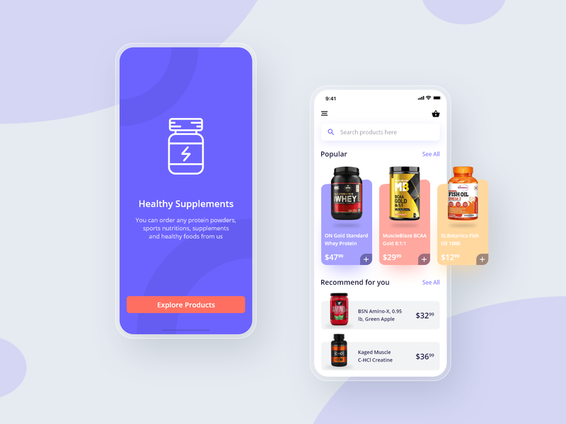 10 Days Design Challenge - Day 9 - Fitness App E-Commerce Screen fitness products ecommerce design ecommerce app ecommerce ux ux design ui design app mobile iphone ui design adobexd 10ddc