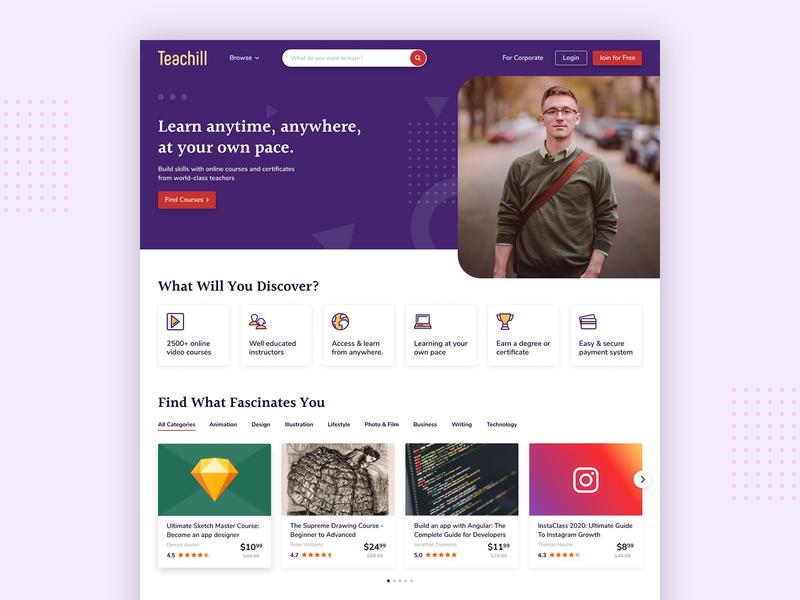 Teachill Website Landing Page design