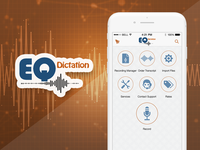 EQ Dictation - iPhone App UI/UX Design