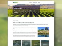 Splash Solar Wineries Website Design