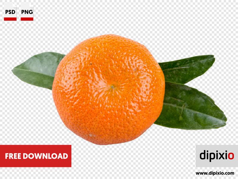 Mandarin with leafs