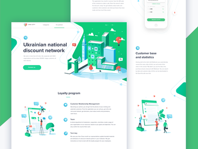 Landing Page landing  page coupons isometry isometric illustrations network discount landing