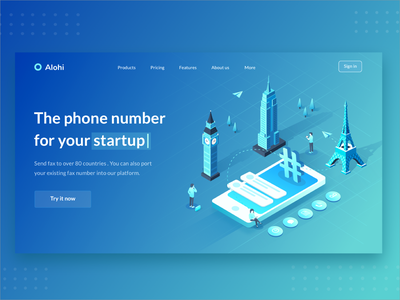 Web Page communicate message app smartphone new york paris big ben page landing startup features number illustration connect people connection phone city isometric isometry