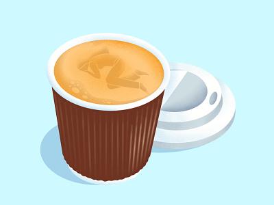 nappuccino conceptual illustration to go nap cappuccino coffee editorial illustration digital illustration illustration