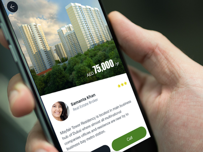 Real Estate App contact call dubai ios design ukraine ux flat interface ui real estate app ios