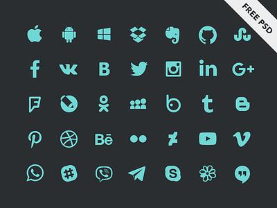 Social icons watsapp eviber facebook social network messengers android ios set icons social psd free