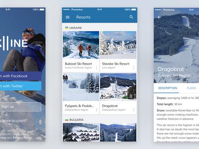 iOS app in Material Design style