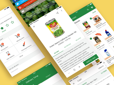 Store in material design style